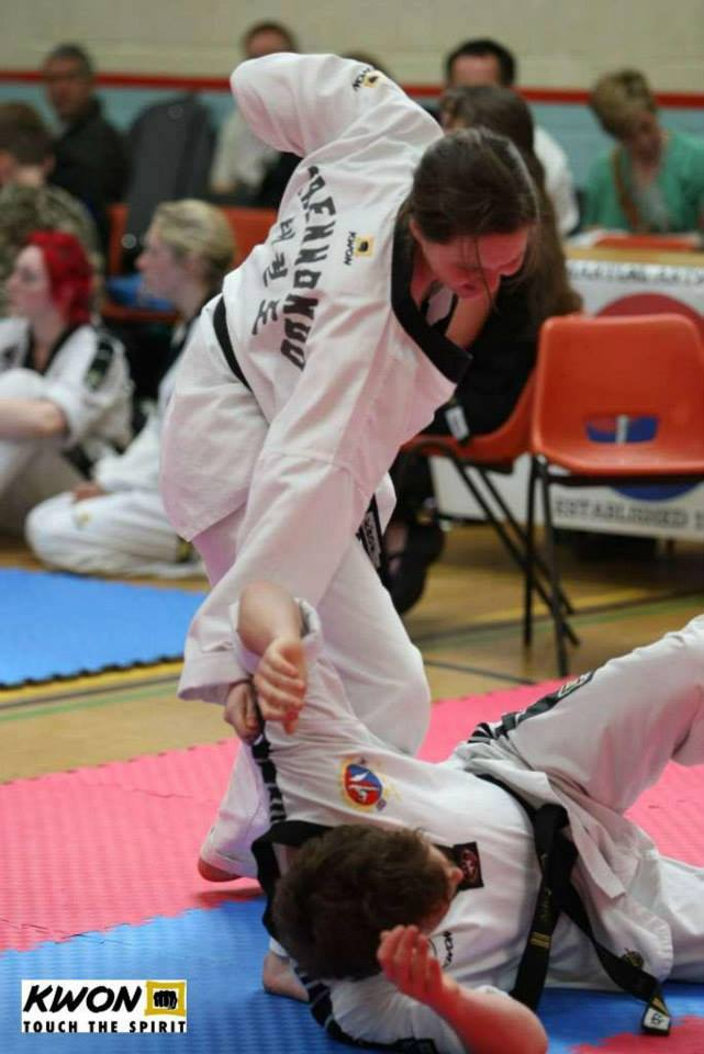 National Martial Arts Committee Great Britain Taekwondo self defense demonstration