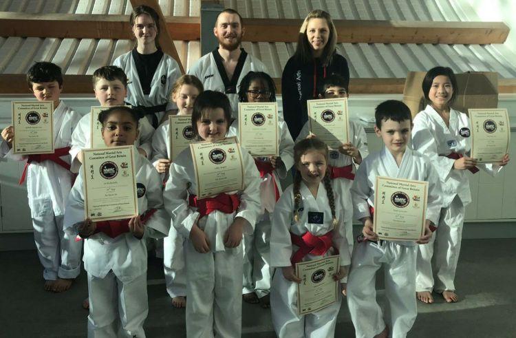 Strikers Taekwondo Portsmouth children's grading