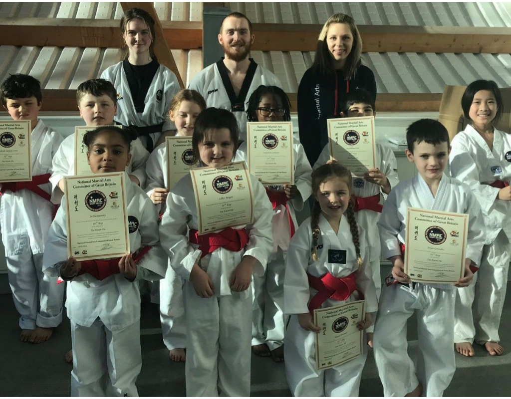 Strikers Taekwondo junior red belt grading